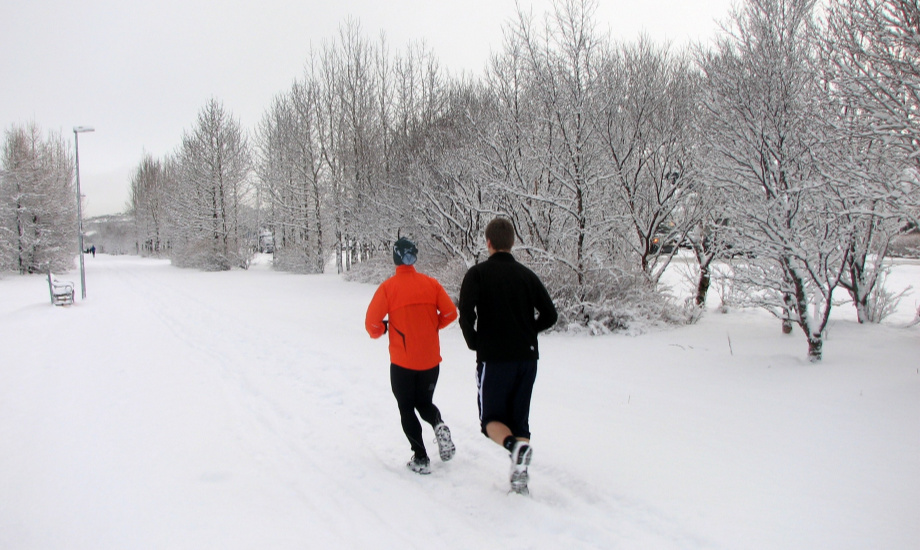 The most secure base for winter running is unbeaten snow