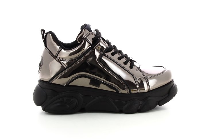 CLD Corin Sneaker silver-metallic faux lacquer leather